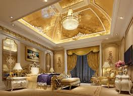 luxury master bedroom designs mesmerizing luxury master bedroom with gold chandelier and curtain
