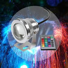 submersible led fountain lights 16 colors 10w dc 12v rgb led underwater fountain light 1000lm