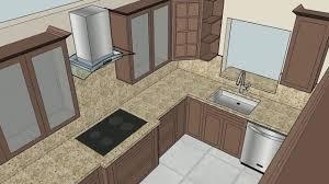 animation 3d model kitchen zina