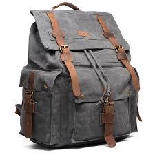 North Carolina travel backpacks for men images Fashion vintage canvas leather hiking travel backpack rucksack jpg
