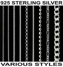 necklace chains silver images 925 sterling silver 14 16 18 20 22 24 26 28 30 quot inch curb trace jpg