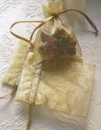 gold favor bags organza favor bags gold