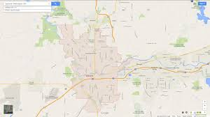 Google Map Of United States by Spokane Washington Map