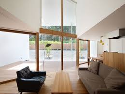 architecture airy double height ceiling kawachinagano home living