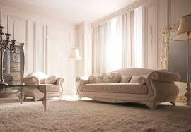 canape de style canapé de style en tissu 3 places beige roma giusti portos