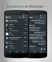 android themes theme gem emerald for whatsapp plus android development and hacking