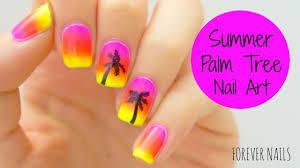 summer palm tree nail art youtube