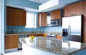 blue kitchen walls with brown cabinets blue kitchen walls with brown cabinets modern l shaped