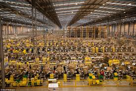 black friday amazon image amazon staff prepare for black friday daily mail online