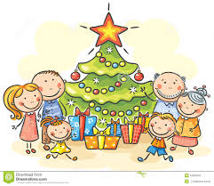 christmas tree clipart family pencil and in color christmas tree
