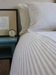 ticking stripe duvet cover navy blue black grey brown