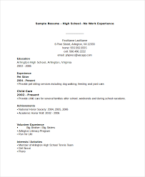 resume for high students with volunteer experience 10 high resume templates pdf doc free premium templates