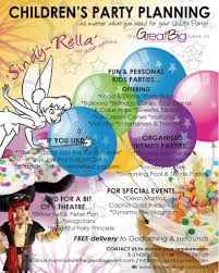 design flyer for event planners children u0027s party planning promo