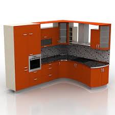 model kitchen kitchen furniture 3d models kitchen red n230411 3d model 3ds