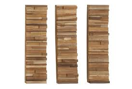 3 set wood block wall panels living spaces