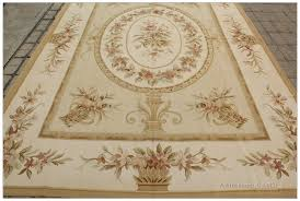 Rug Gold Pastel Gold Ivory Aubusson Rug Pink Rose Country French Style