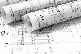 architect plans architect rolls and plans blueprints project stock photo colourbox