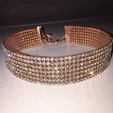 rose gold crystal bracelet images Choker rose gold clear crystal choker choker jewelry jpg