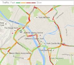 road map of york live travel and traffic i travel york