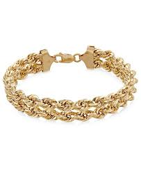 gold chain rope bracelet images Macy 39 s chain double rope bracelet in 14k gold bracelets tif