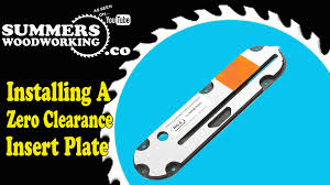 table saw dado blade insert how to install a new zero clearance insert plate youtube