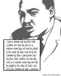 martin luther king i a testo martin luther king jr day coloring pictures holidays net