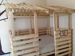 Wood Bunk Bed Plans by Astonishing Ideas For Pallet Loft Bunk Beds Wood Pallet Ideas