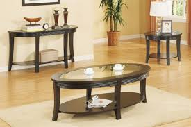 Coffee Table 3 Piece Sets 2018 Popular Dark Wood Round Coffee And End Table Sets