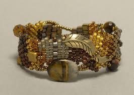 metal bead bracelet images Bead weaving jewelry beadage jpg