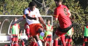 seton hat akintunde gets hat trick as cats defeat seton hill 4 0 west