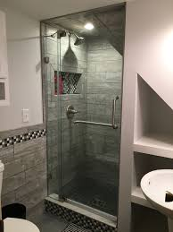 How To Build A Bathroom In Basement Turned Our Half Bath Into 3 4 Bath By Putting Shower In Where Sink