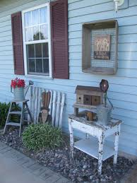 primitive outdoor decorating by gainers creek hand painted