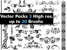 20 free photoshop ornament brushes