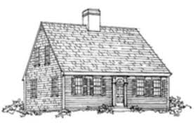Colonial Saltbox 18th Century Cape Cod House Plans