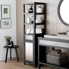 furniture tall linen cabinet with hamper bathroom tower unit