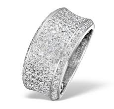 gold pave rings images Pave ring 0 94ct diamond 9k white gold item e3761 jpg