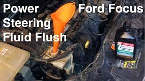 2000 2016 ford focus power steering fluid flush youtube