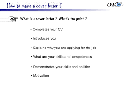 how to make a cover leter