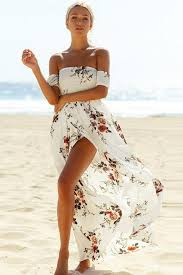 floral maxi dress smoked the shoulder slit white floral maxi dress mb61553 1