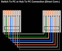 setup lan with hub or switch with cable color code hubpages