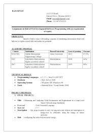 Mechanical Engineering Resume Examples Resume Samples For Freshers Engineers Best Resume Format Doc