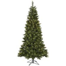 7 5 pre lit pine slim artificial tree clear led