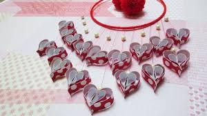 paper hearts wall hanging tutorial
