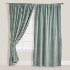 Worldmarket Curtains Slate Blue Velvet Curtain World Market House Ideas Pinterest
