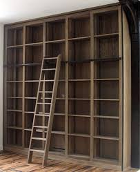 Wooden Ladder Bookshelf Plans by Best 25 Bookcase With Ladder Ideas On Pinterest Library Ladder