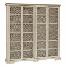 leon large antique white mesh front french country kitchen cabinet