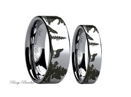 promise ring sets for him and wolf ring couples wedding ring wedding band sets tungsten band