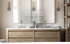 Restoration Hardware Bathroom Mirrors All Bath Mirrors Rh Pertaining To Restoration Hardware Bathroom