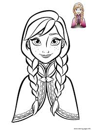 anna frozen face 2018 coloring pages printable