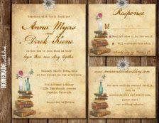 Invitations For Weddings Storybook Fairy Tale Happily Ever After Library Themed